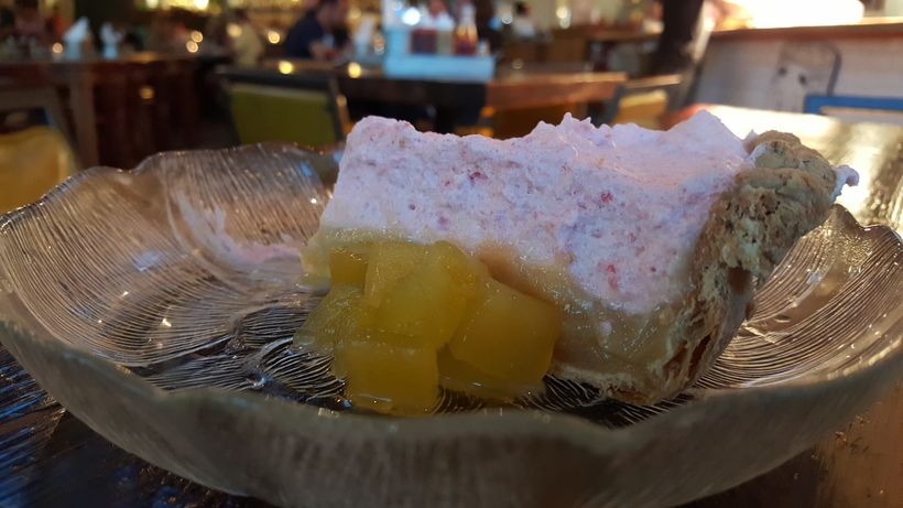 Watermelon Lime Chiffon Pie courtesy Ashley Capps, Buxton Hall, Asheville, NC