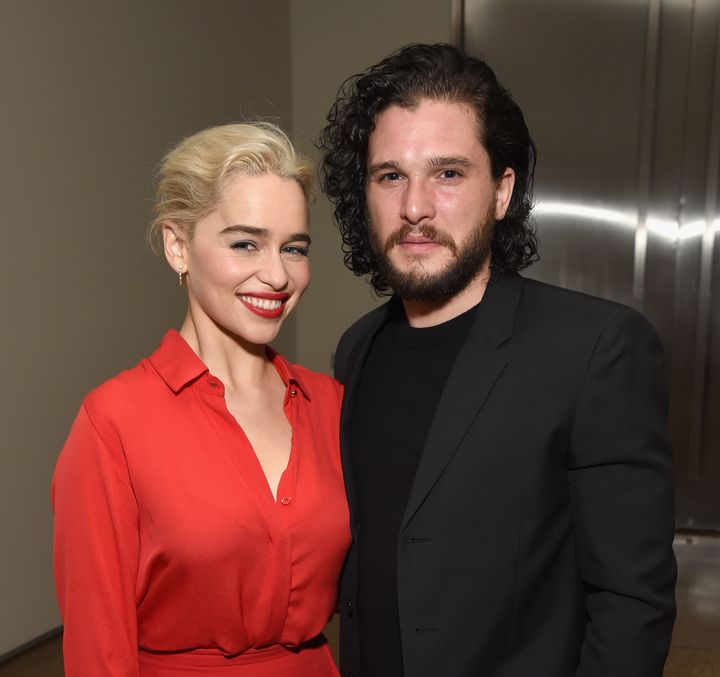"""Game Of Thrones"" stars, Emilia Clarke and Kit Harrington."