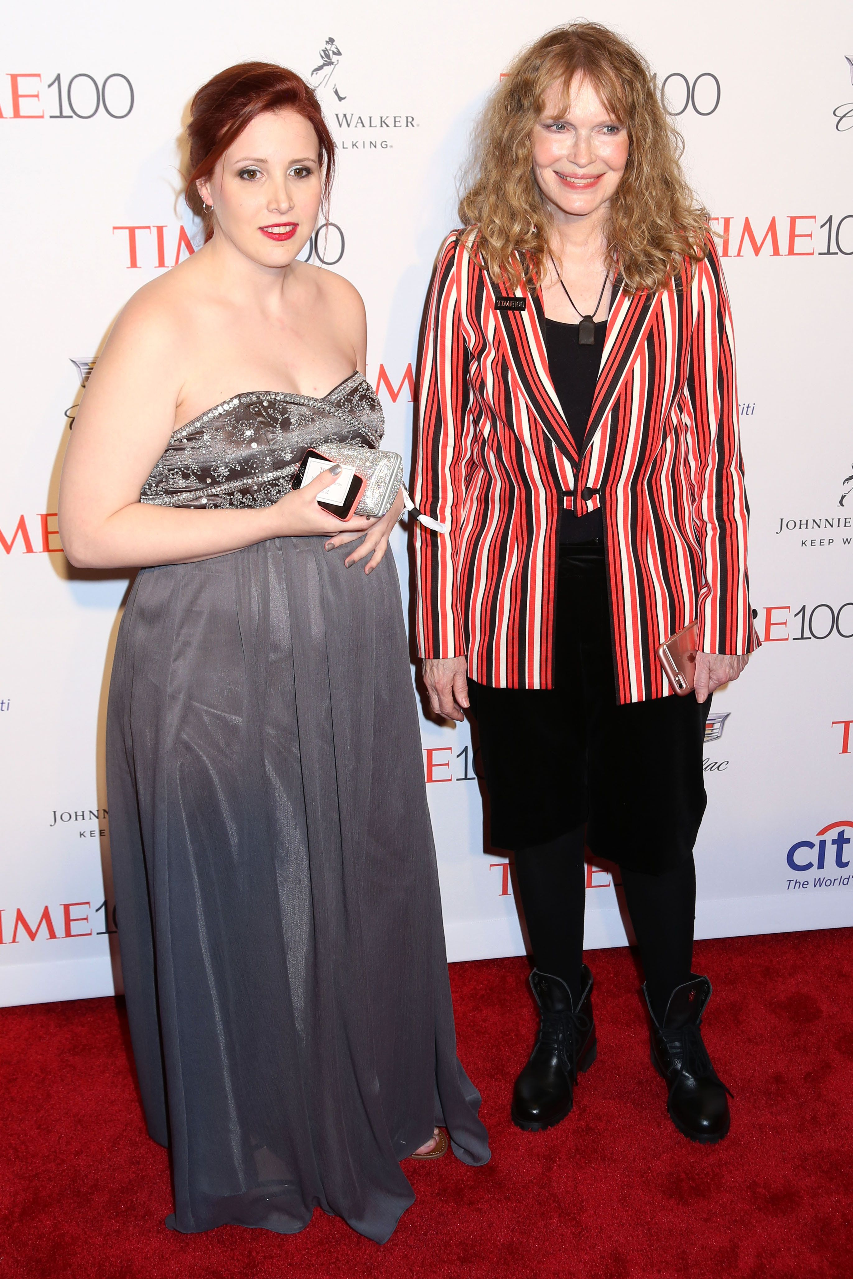 Dylan Farrow and Mia Farrow attend the 2016 Time 100 Gala at Fredrick P. Rose Hall in New York.