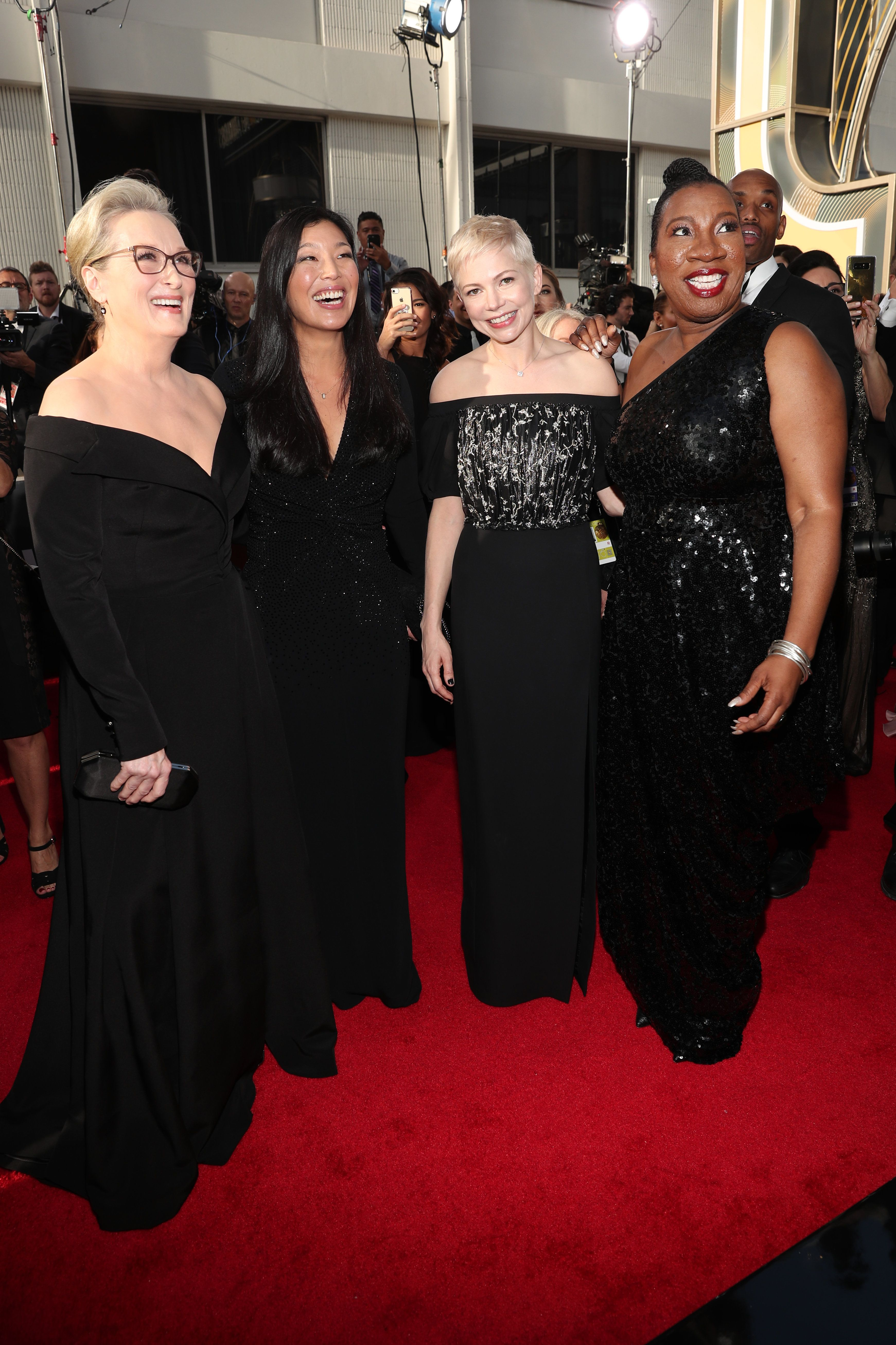 Meryl Streep, Michelle Williams And Tarana Burke Led The Stars Wearing Black At The Golden Globes