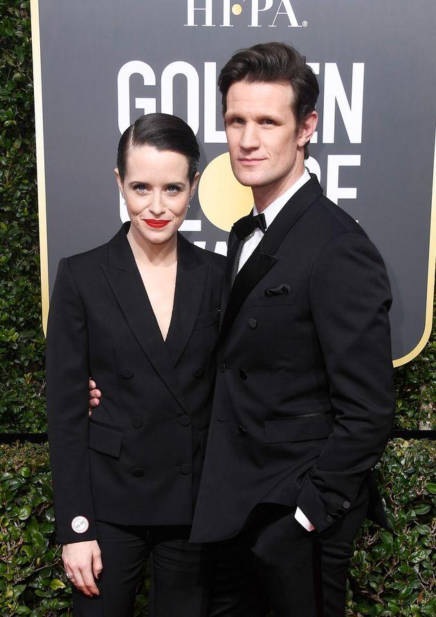 Golden Globes 2018 Fashion: Claire Foy's Suit Set Twitter