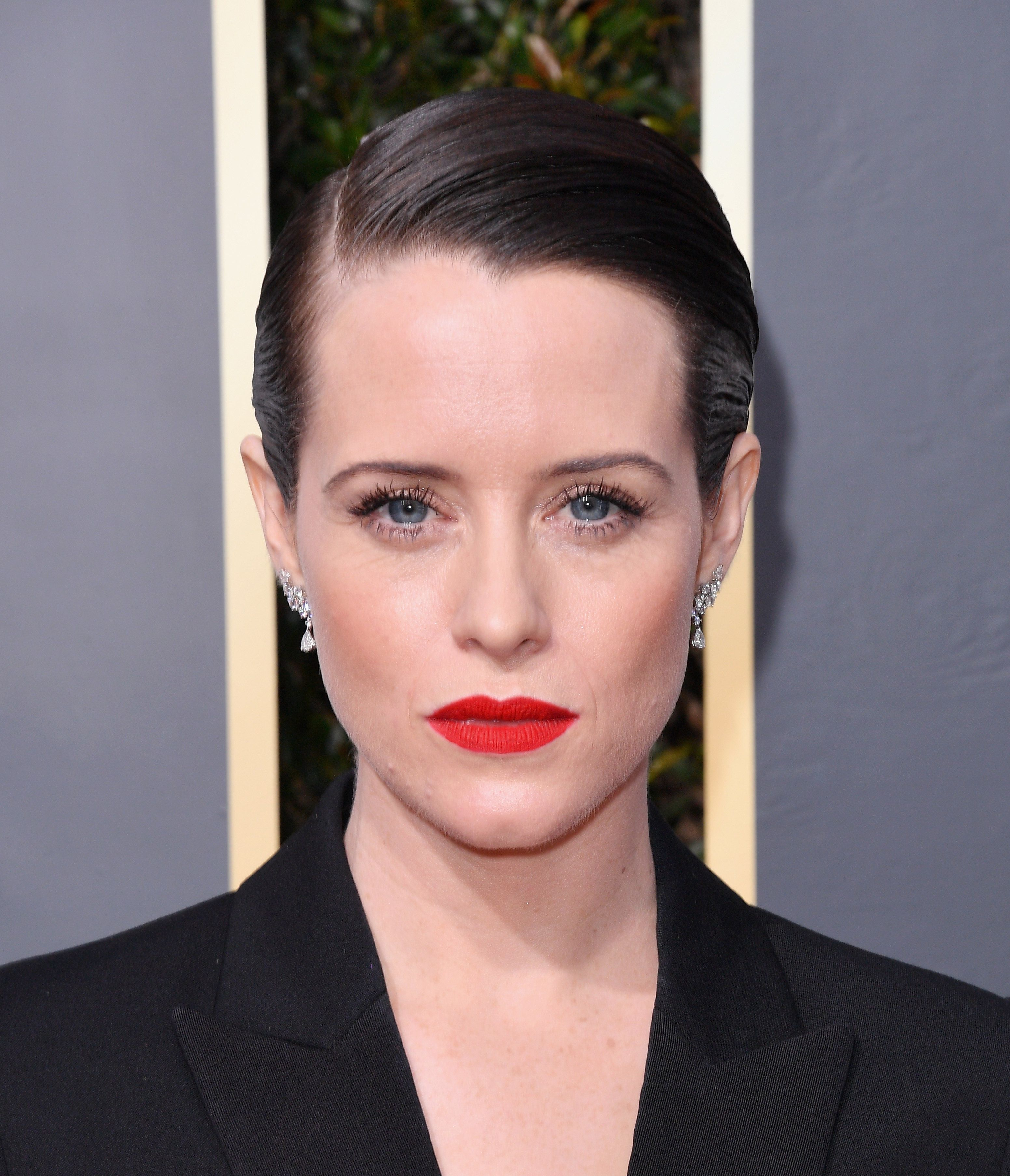 Claire Foy's Suit Set Twitter Alight At The Golden