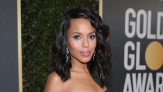 BEVERLY HILLS, CA - JANUARY 07:  75th ANNUAL GOLDEN GLOBE AWARDS -- Pictured: Actor Kerry Washington arrives to the 75th Annual Golden Globe Awards held at the Beverly Hilton Hotel on January 7, 2018.  (Photo by Neilson Barnard/NBCUniversal/NBCU Photo Bank via Getty Images)