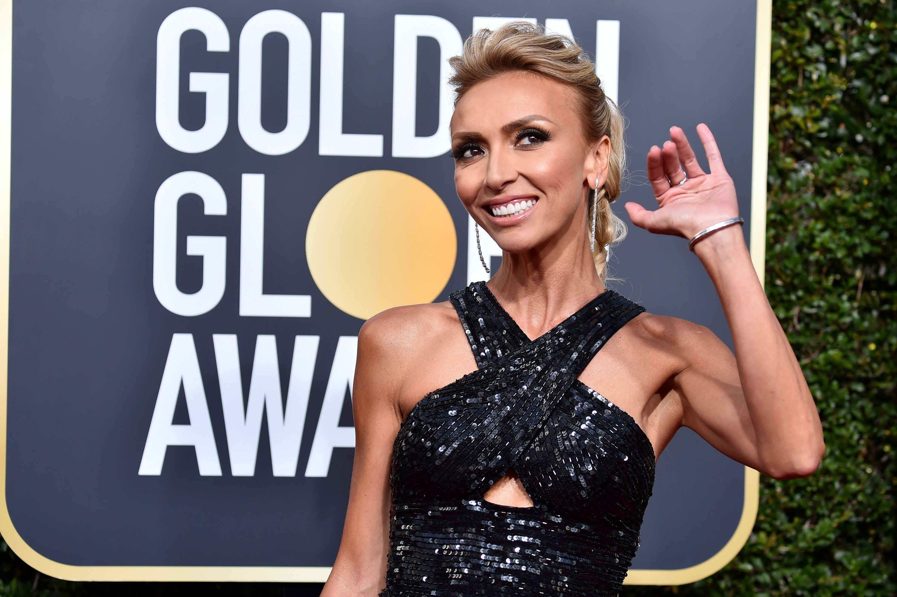 BEVERLY HILLS, CA - JANUARY 07:  Giuliana Rancic  attends The 75th Annual Golden Globe Awards at The Beverly Hilton Hotel on January 7, 2018 in Beverly Hills, California.  (Photo by Frazer Harrison/Getty Images)