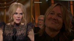 Nicole Kidman emociona a Keith Urban en su discurso de los