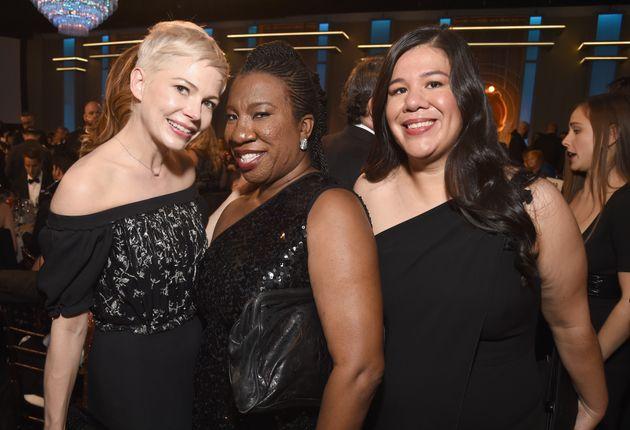 Michelle Williams with Tarana Burke and Monica