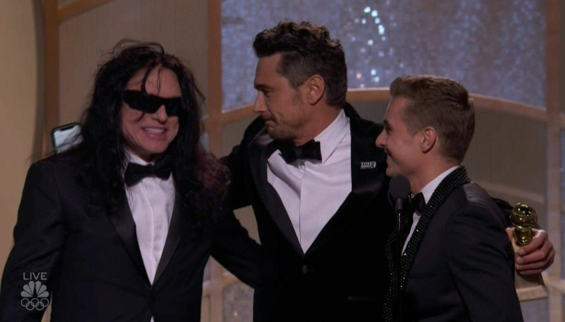 James Franco's Golden Globes Win Divides Fans, As Tommy Wiseau Joins Him On Stage