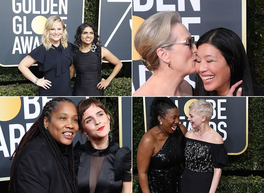 A-List Actresses Bring Activists For Women's Equality As Their Guests To Golden