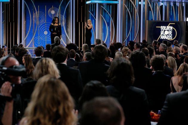 Oprah speaks at the Golden