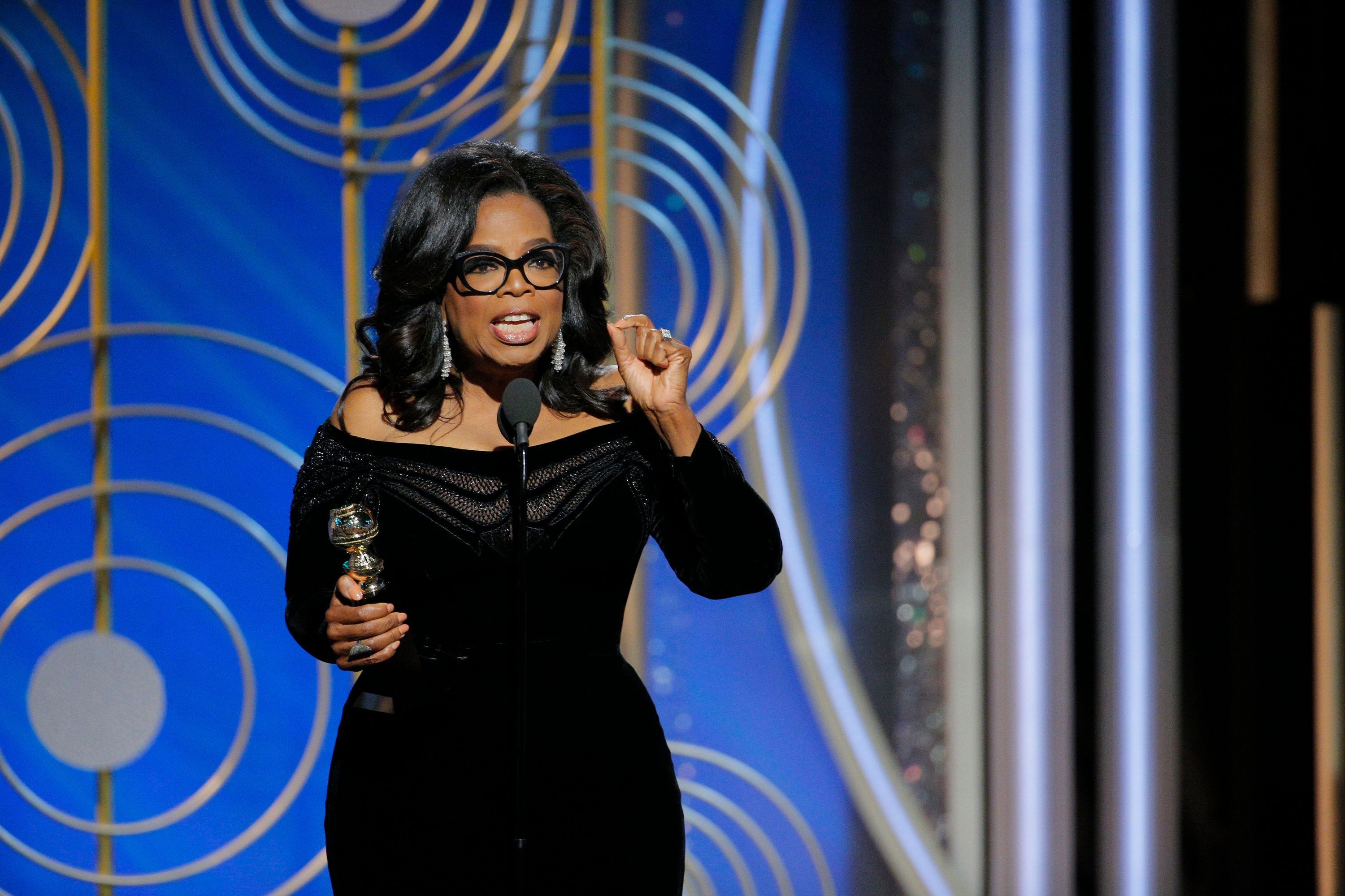 Oprah Calls For Day When No One Has To Say 'Me Too' During Golden Globes Speech