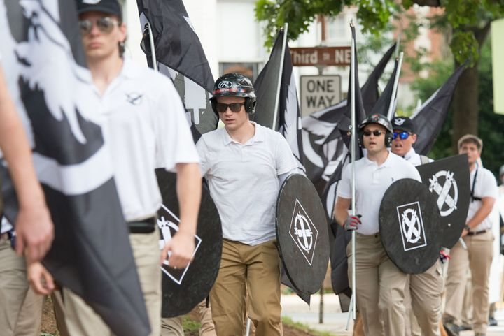 Neo-Nazis, white supremacists and others in the alt-right gathered in Charlottesville in August.