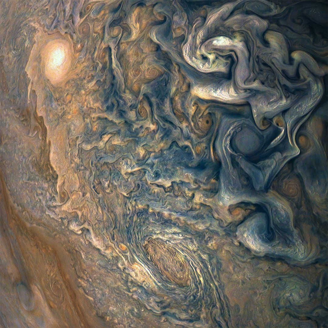 NASA publica increíbles fotos de Júpiter