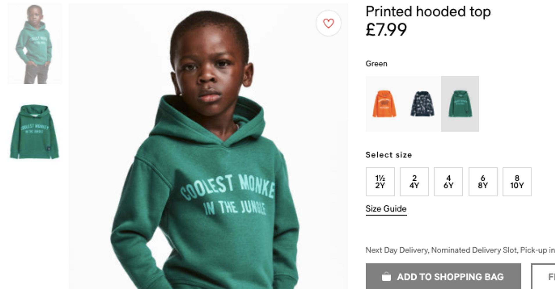 H&M Poses Black Child Model In \'Monkey\' Sweatshirt, Faces Fury On ...