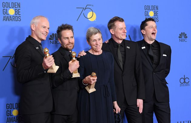 'Three Billboards Outside Ebbing, Missouri' won four prizes at the Golden