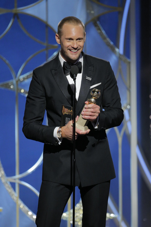 Alexander Skarsgård's Golden Globes Speech Sparks Backlash Following Win For 'Big Little