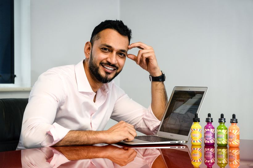 Mohammed Patel of Leading e-liquid Brand, Vape Dinner Lady