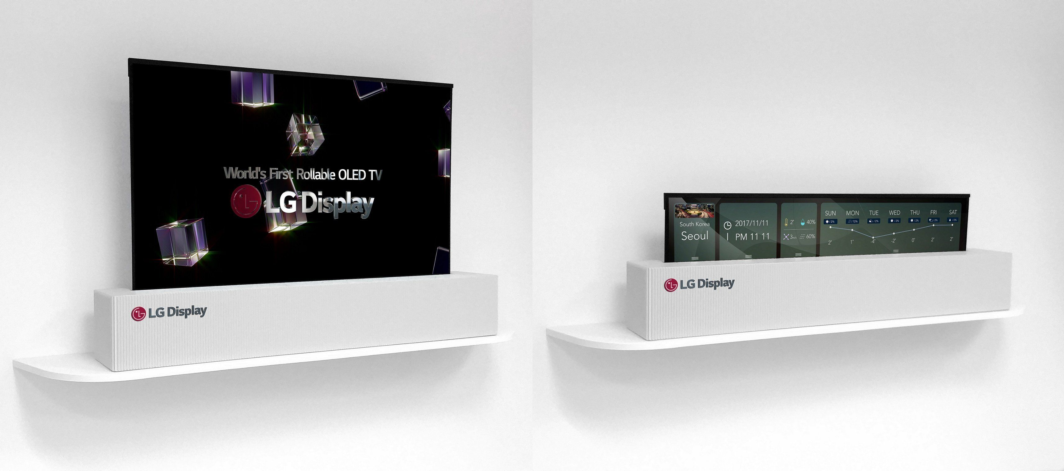 CES 2018: LG Unveils Stunning OLED TV That Can Be Rolled Up Like