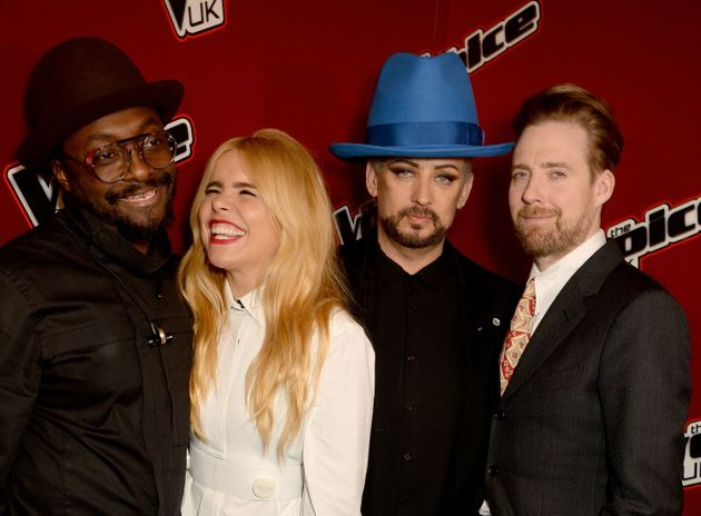 Paloma with her former 'Voice' co-stars Ricky Wilson, Boy George and