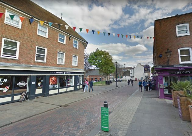 The incident took place in Rochester High Street this