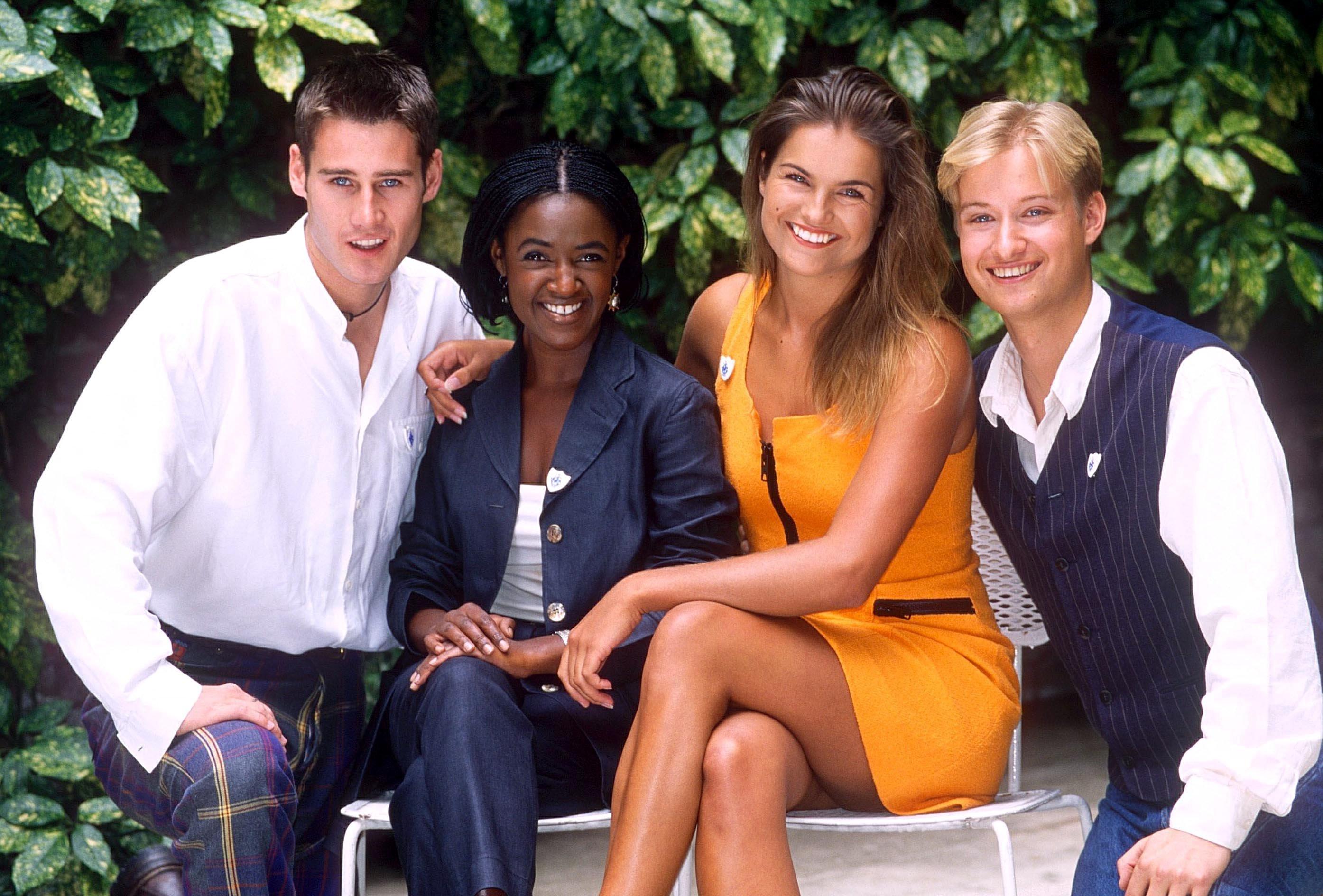 Class of 'Blue Peter' 1995 - Tim Vincent, Diane Louise Jordan, Katy Hill and Stuart Miles