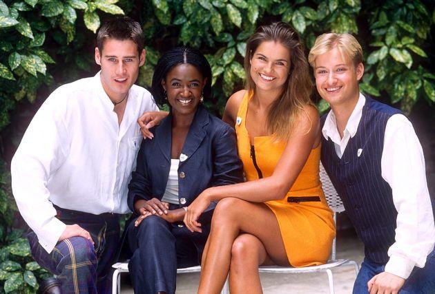Class of 'Blue Peter' 1995 - Tim Vincent, Diane Louise Jordan, Katy Hill and Stuart