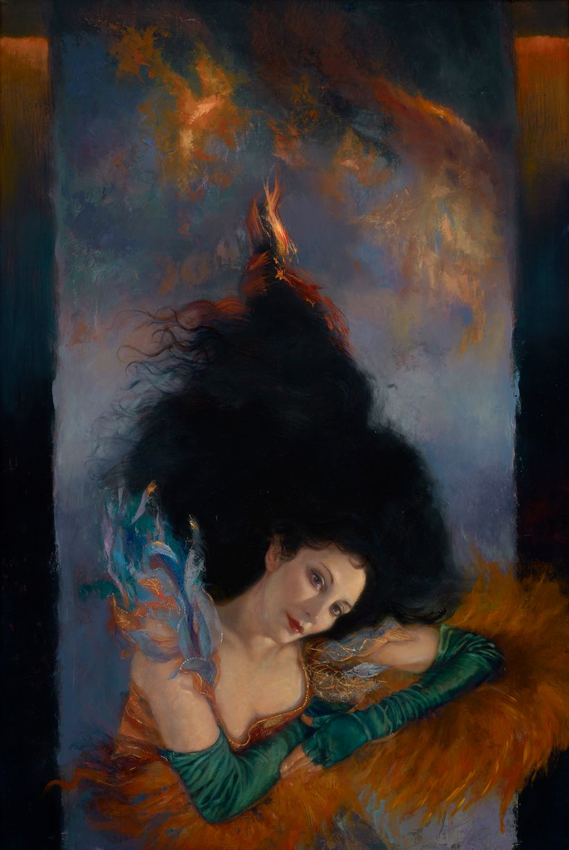 "Accepted work: Janet Cook, <em>Venus Arising</em>, oil on panel, 36""x24"", 2017 ""Venus, goddess of love, fertility, beauty, an"