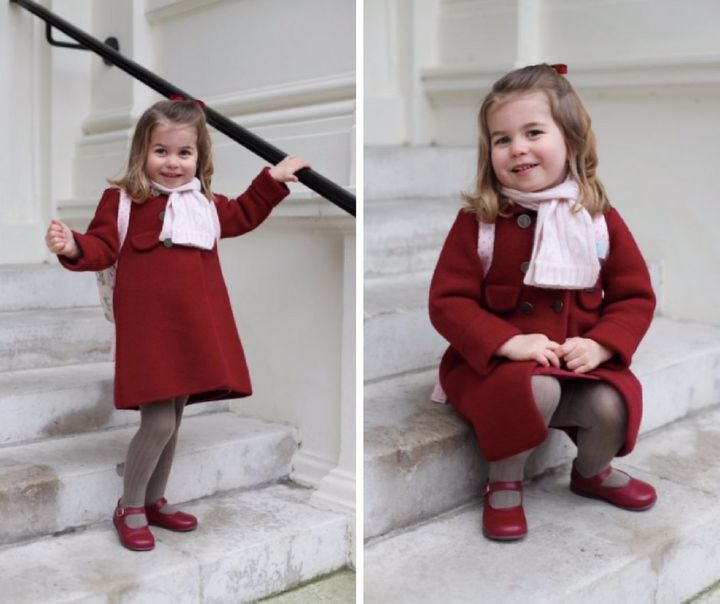Princess Charlotte looking ready for her big day.