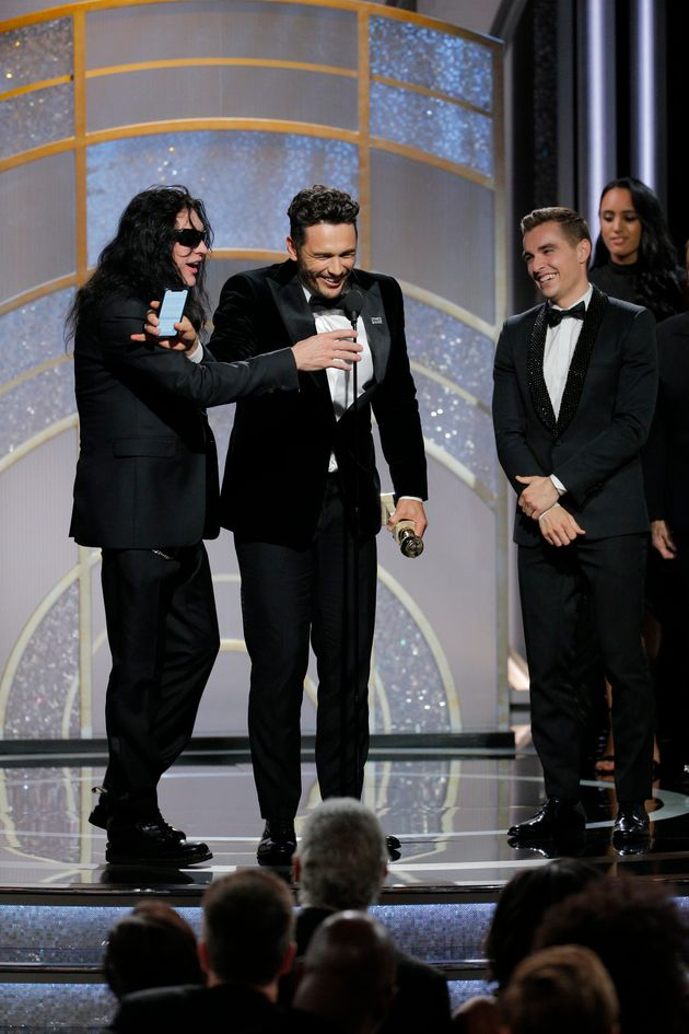 Tommy on stage with James and Dave