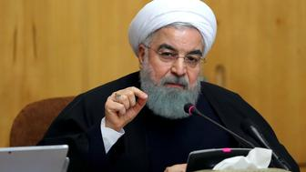 TEHRAN, IRAN - DECEMBER 31: (----EDITORIAL USE ONLY  MANDATORY CREDIT - 'IRANIAN PRESIDENCY / HANDOUT' - NO MARKETING NO ADVERTISING CAMPAIGNS - DISTRIBUTED AS A SERVICE TO CLIENTS----) President of Iran Hassan Rouhani addresses during the cabinet meeting in Tehran, Iran on December 31, 2017. (Photo by Iranian Presidency / Handout/Anadolu Agency/Getty Images)