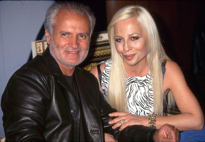 Gianni and Donatella Versace.