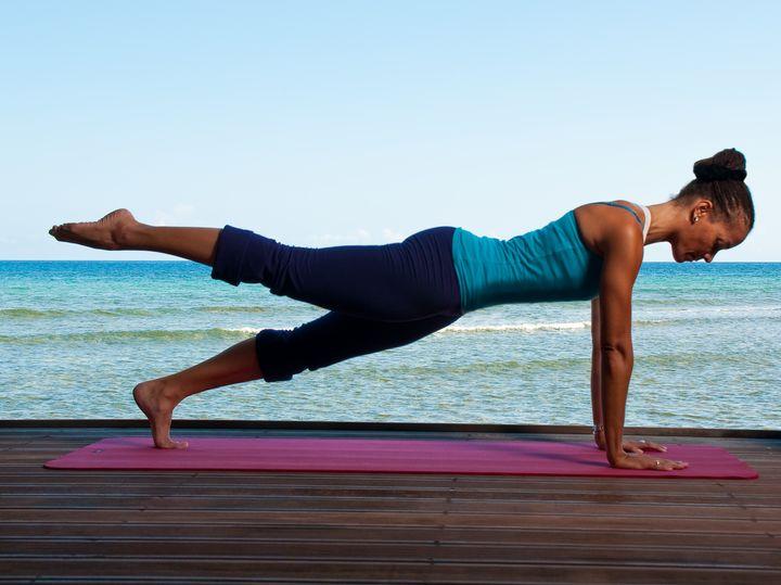 <p>Kim Elizabeth, yoga and Pilates instructor at Half Moon in Jamaica.</p>