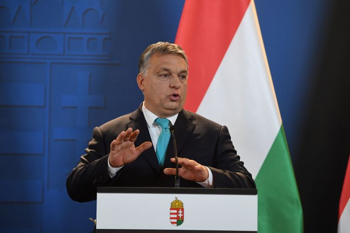 Hungarian Prime Minister Viktor Orban speaks in Budapest on Jan. 3.