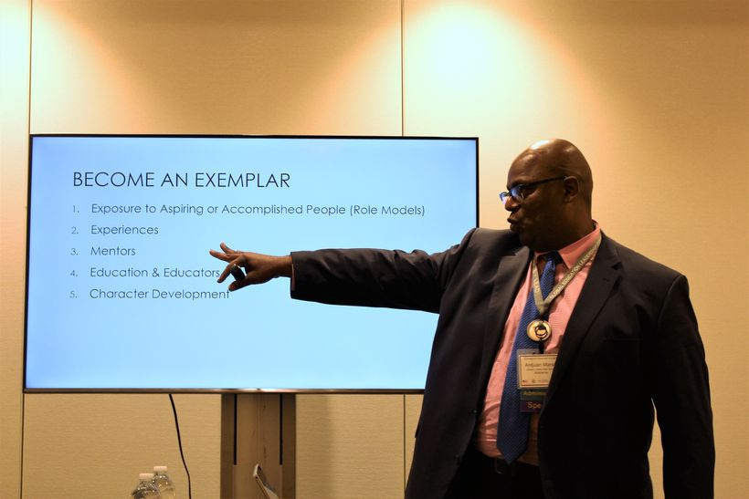 <em>Principal Antjuan Marsh presents at the  Global Education Leadership Conference</em>
