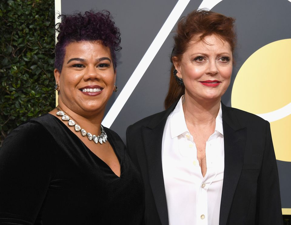 """<a href=""""http://rosaclemente.net/biography-of-rosa-clemente/"""">Rosa Clemente</a>, who attended the Golden Globes with Susan Sa"""