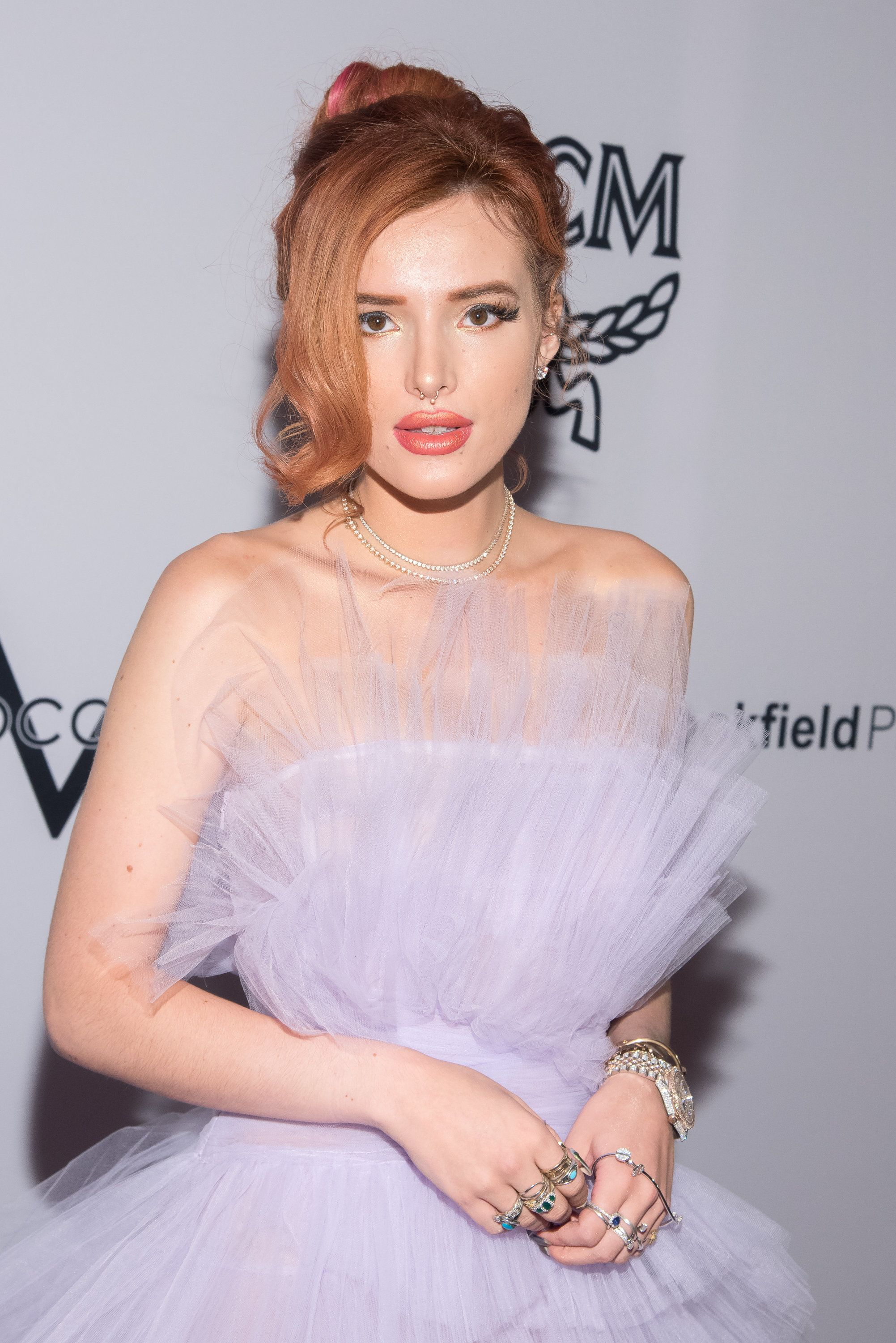 NEW YORK, NY - SEPTEMBER 08:  Bella Thorne attends the Daily Front Row's Fashion Media Awards at Four Seasons Hotel New York Downtown on September 8, 2017 in New York City.  (Photo by Mike Pont/WireImage)
