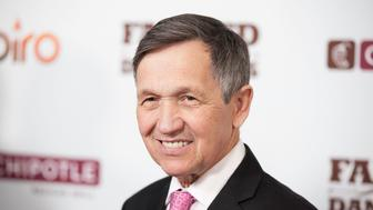 LOS ANGELES, CA - FEBRUARY 11:  Dennis Kucinich arrives for the Chipotle World Premiere Of Original Comedy Web Series 'Farmed And Dangerous' at DGA Theater on February 11, 2014 in Los Angeles, California.  (Photo by Gabriel Olsen/Getty Images)