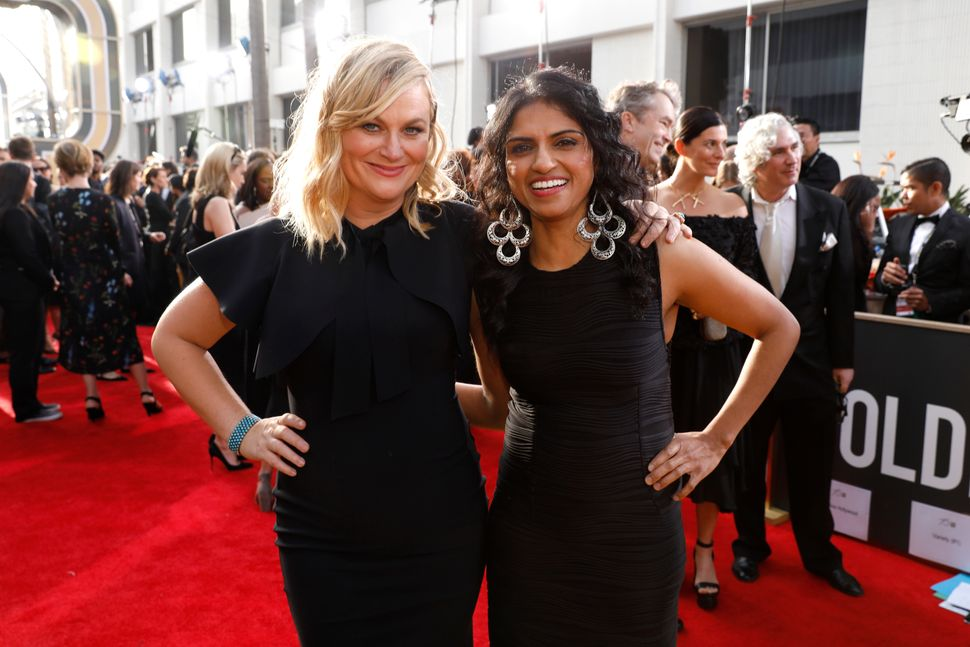 Saru Jayaraman, who attended the Golden Globes as a guest of Amy Poehler, is an attorney who's best known for her