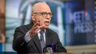MEET THE PRESS -- Pictured: (l-r)   Michael Wolff, author, Fire and Fury: Inside the Trump White House appears on 'Meet the Press' in Washington, D.C., Sunday, Jan. 7, 2018.  (Photo by: William B. Plowman/NBC/NBC NewsWire via Getty Images)