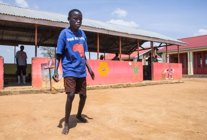 Treatment at a health center in Uganda focused on nodding syndrome helped Nil Kidega, 18, walk again.