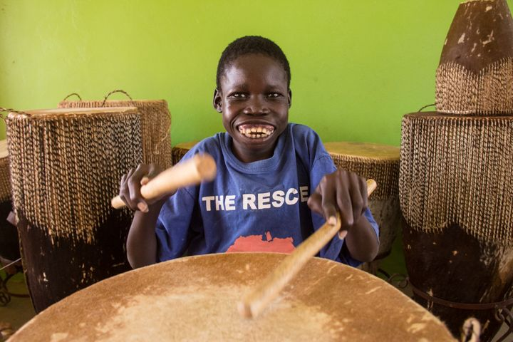 Music therapy has helped Opiyo Ballam, 19, in his battle with nodding syndrome.