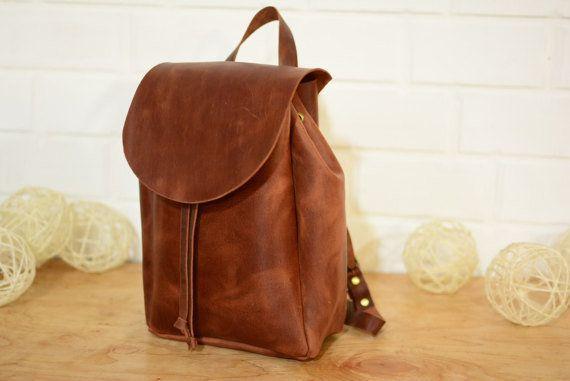 7ad7221f0c Handmade Studio UA Leather Backpack. Etsy    HandmadeStudio UA