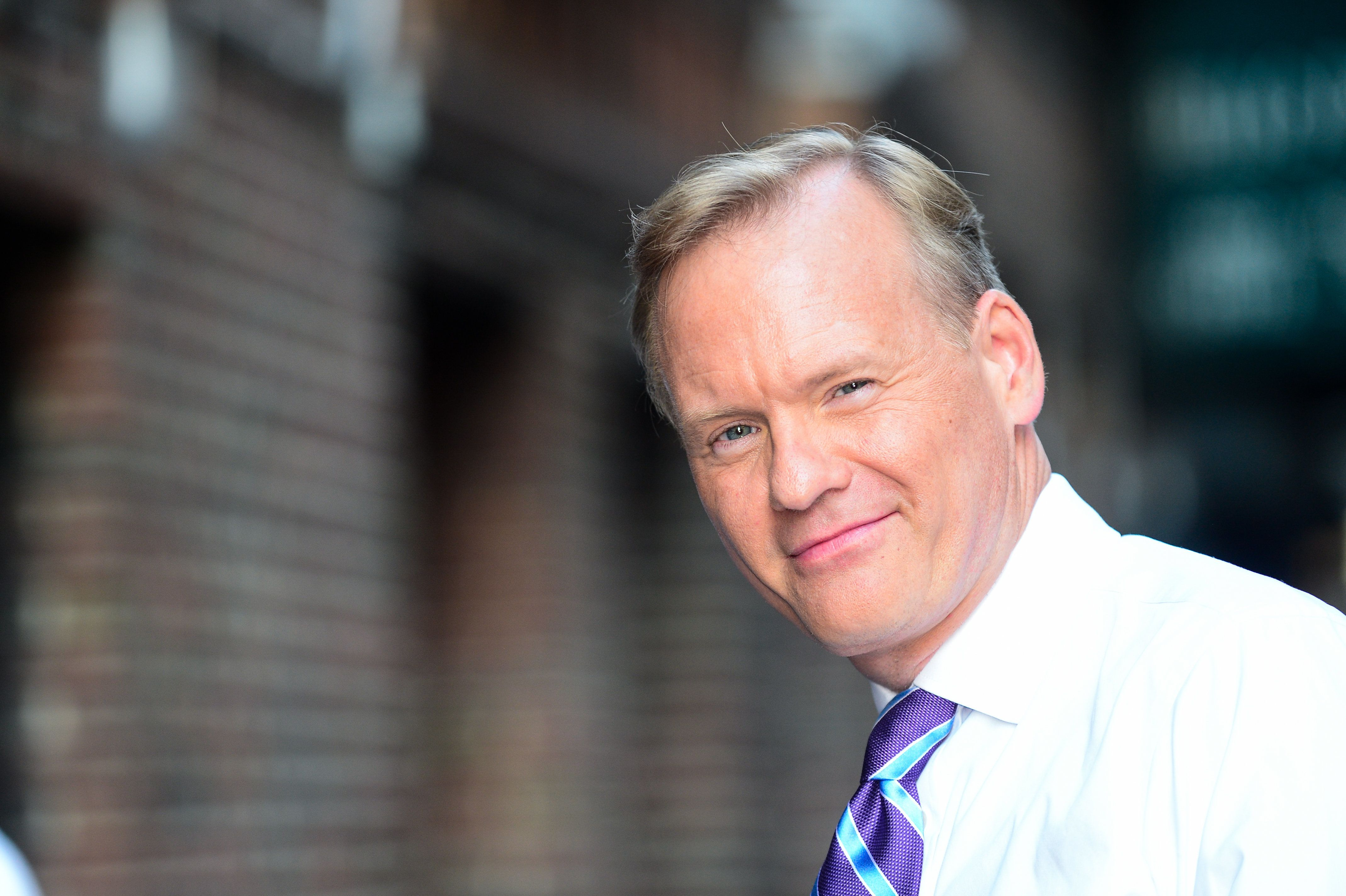 NEW YORK, NY - AUGUST 17:  Television journalist John Dickerson enters the 'The Late Show With Stephen Colbert' taping at the Ed Sullivan Theater on August 17, 2017 in New York City.  (Photo by Ray Tamarra/GC Images)