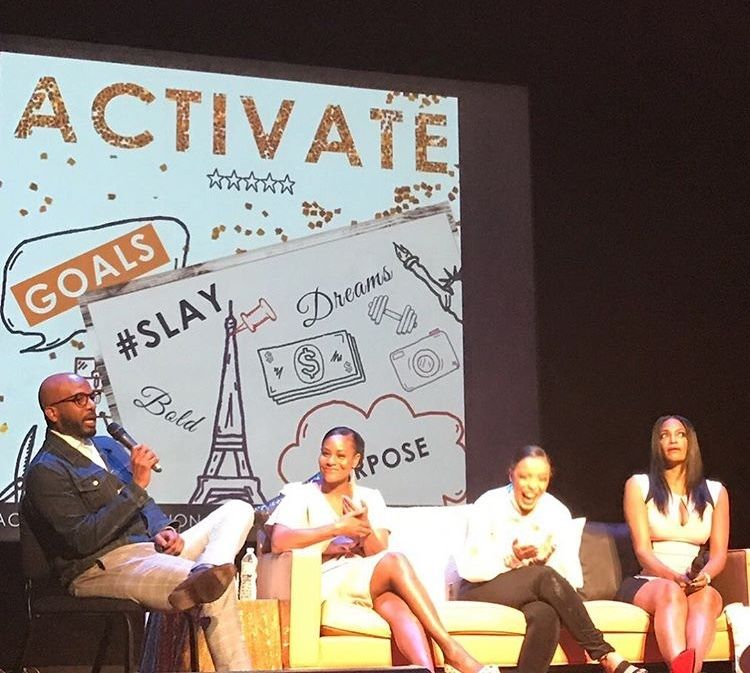 Madison speaking on the panel at Lucinda Cross-Otiti's Activate Worldwide Conference