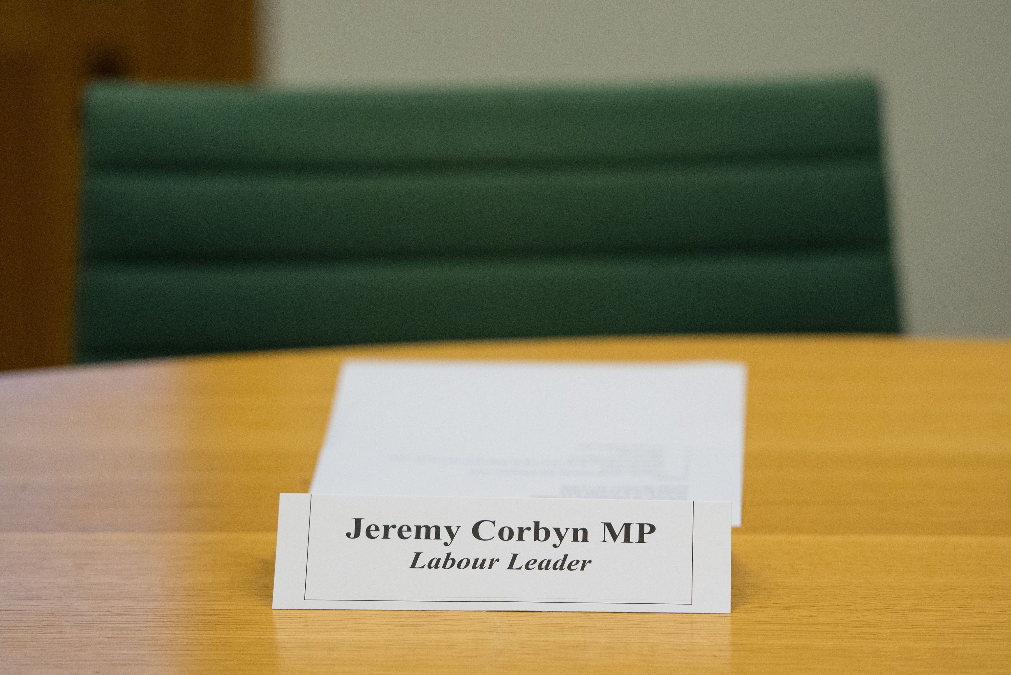 <strong>Jeremy Corbyn was empty-chaired at the cross-party summit</strong>