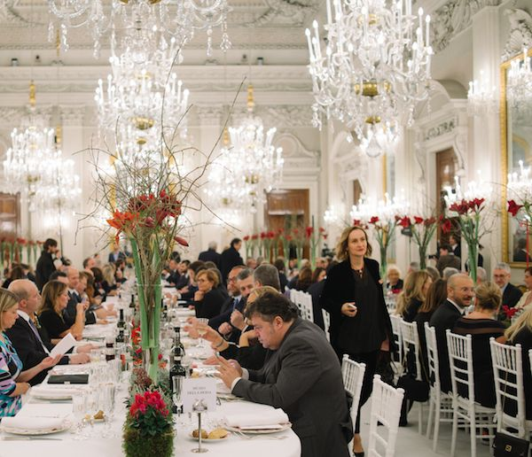 The dinner in the Sala Bianca, organized by the Centro di Firenze per la Moda Italiana