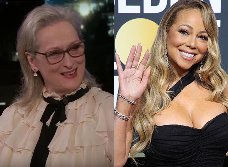 Meryl Streep Spills On Mariah Carey 'Stealing Her Seat' At The Golden