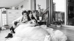 Από τη φωτογράφιση του γάμου τους δεν θα μπορούσε να λείπει ο γάτος