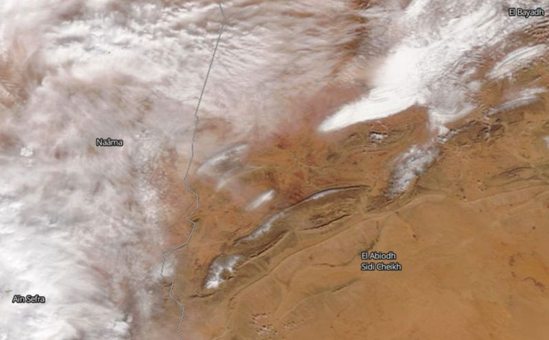 Sogar in der Sahara ist Schnee gefallen