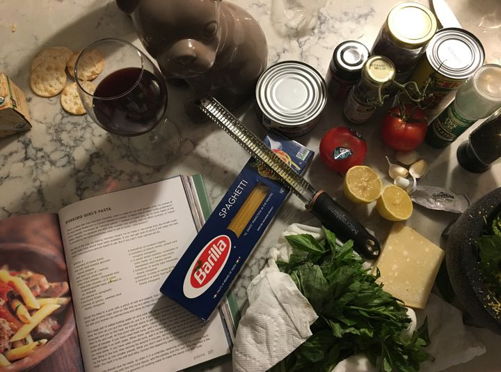 <p><em>Pasta with a simple salad is a go-to in our household.</em></p>