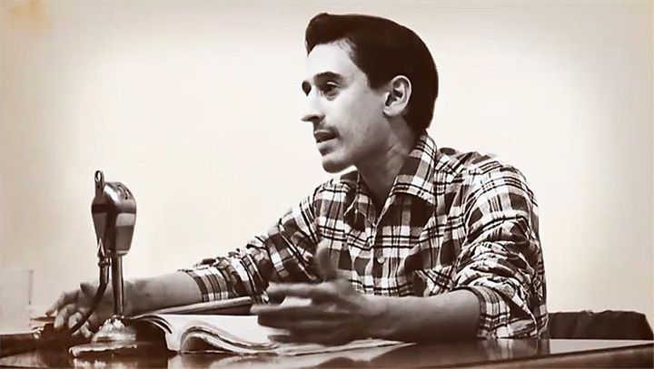 Roque Dalton in 1969 at the Casa de las Americas. Dalton's <em>Poema de Amor</em> is popular among the Salvadoran community a